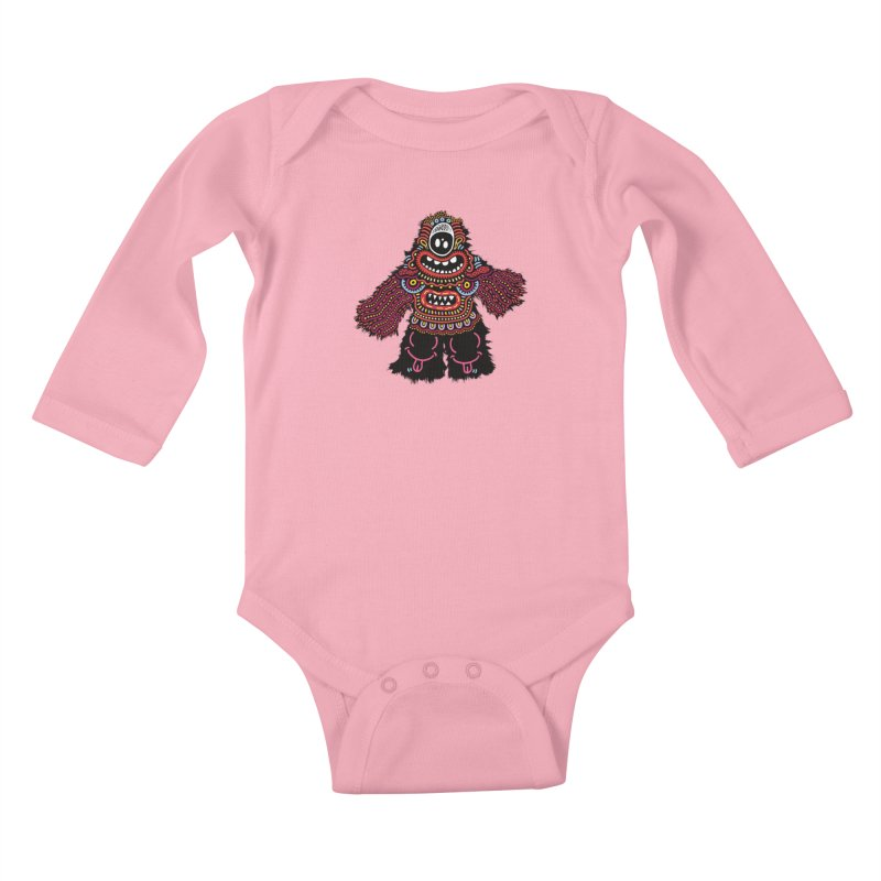 (Stupid) monster of the day (June 24) [Year 1] Kids Baby Longsleeve Bodysuit by Daily Monster Shop by Royal Glamsters