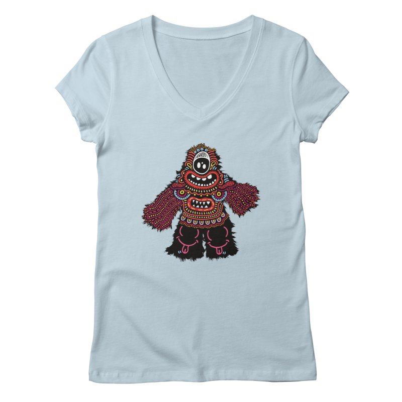 (Stupid) monster of the day (June 24) [Year 1] Women's V-Neck by Daily Monster Shop by Royal Glamsters