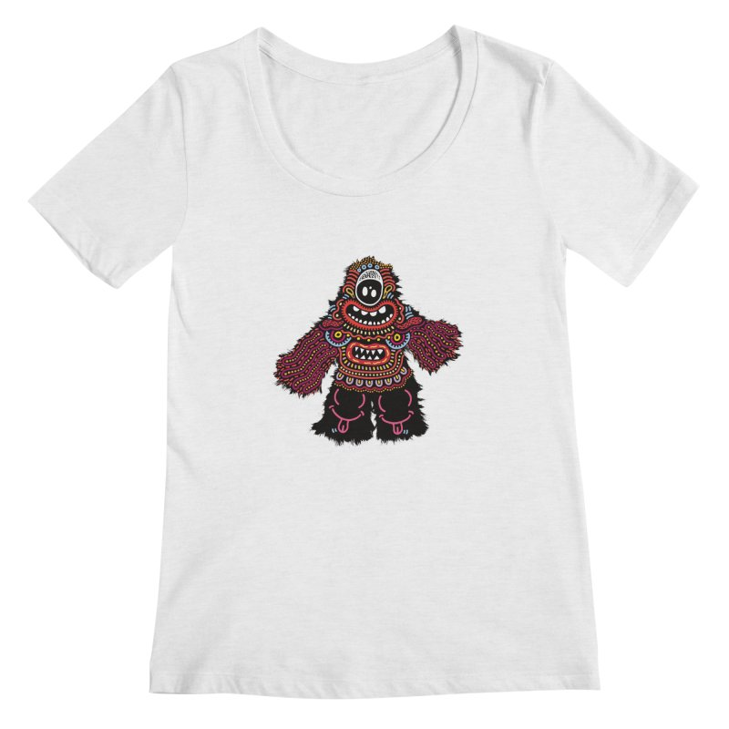 (Stupid) monster of the day (June 24) [Year 1] Women's Scoopneck by Daily Monster Shop by Royal Glamsters