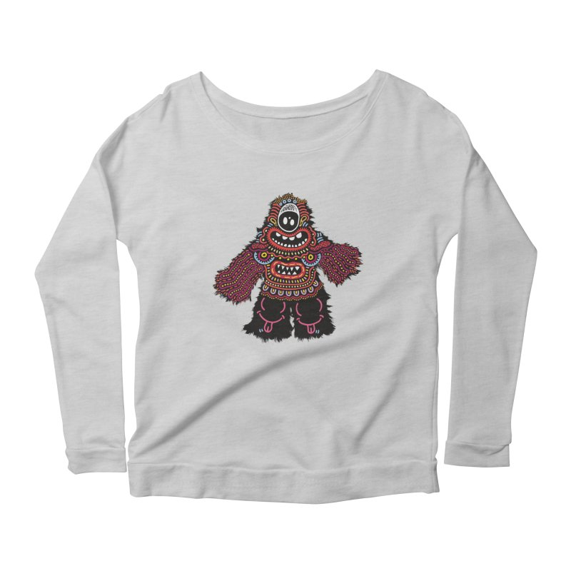 (Stupid) monster of the day (June 24) [Year 1] Women's Scoop Neck Longsleeve T-Shirt by Daily Monster Shop by Royal Glamsters