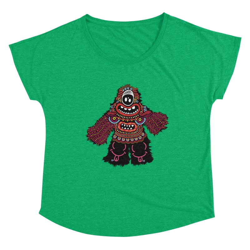 (Stupid) monster of the day (June 24) [Year 1] Women's Dolman Scoop Neck by Daily Monster Shop by Royal Glamsters