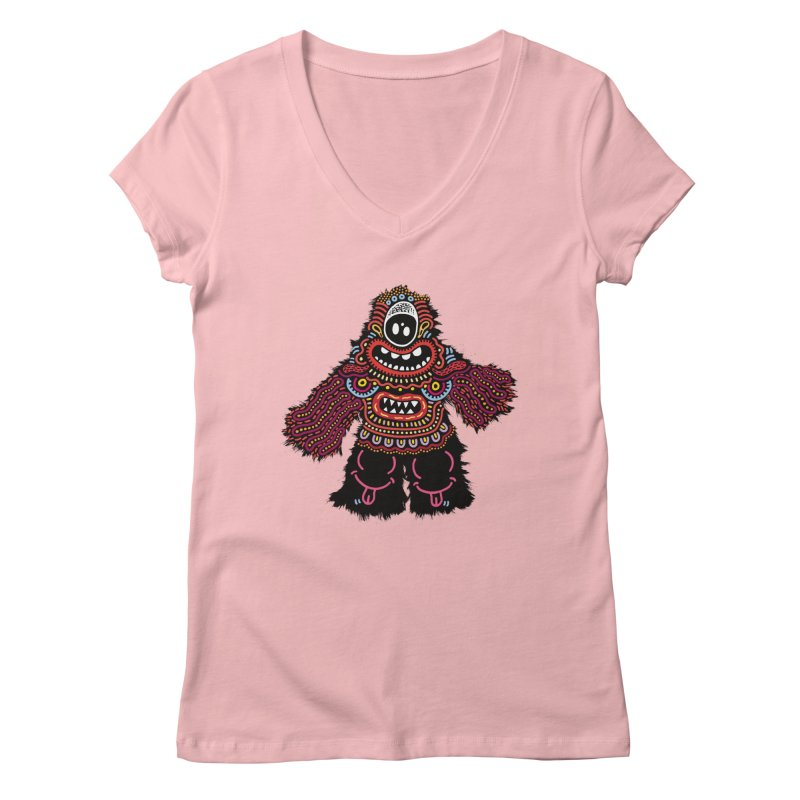 (Stupid) monster of the day (June 24) [Year 1] Women's Regular V-Neck by Daily Monster Shop by Royal Glamsters