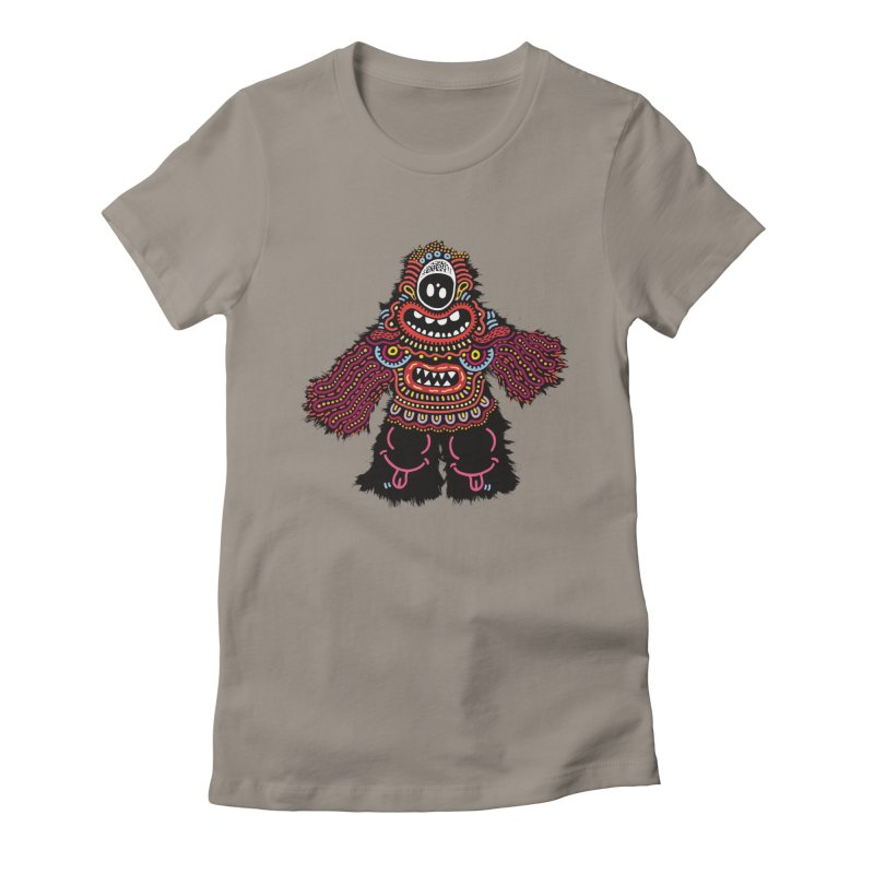 (Stupid) monster of the day (June 24) [Year 1] Women's Fitted T-Shirt by Daily Monster Shop by Royal Glamsters