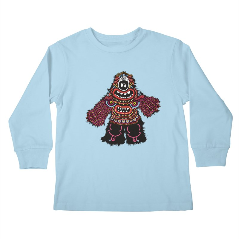 (Stupid) monster of the day (June 24) [Year 1] Kids Longsleeve T-Shirt by Daily Monster Shop by Royal Glamsters