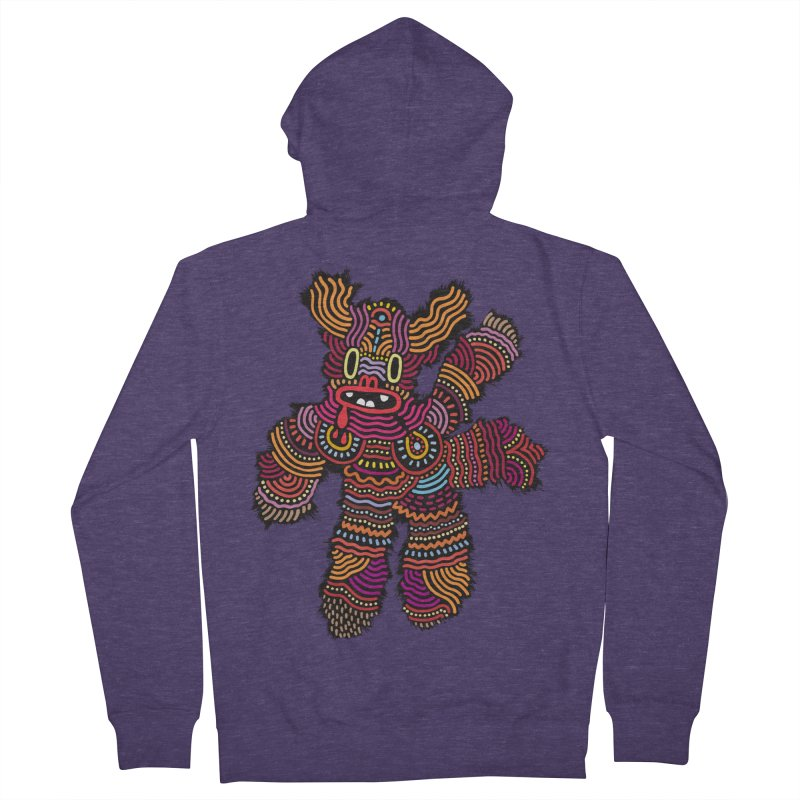 Monster of the day (June 26) [Year 1] Men's French Terry Zip-Up Hoody by Daily Monster Shop by Royal Glamsters