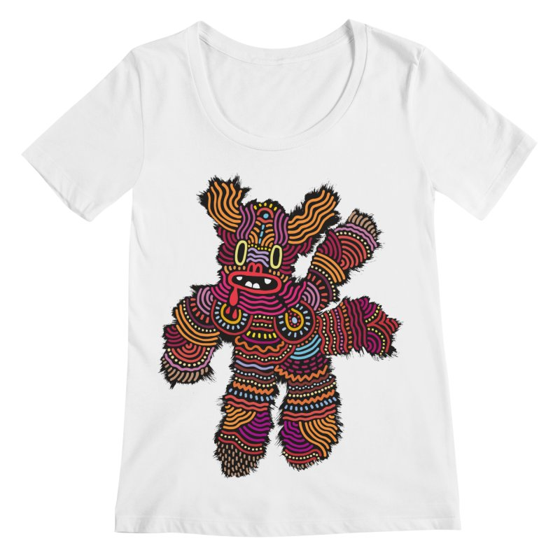 Monster of the day (June 26) [Year 1] Women's Scoopneck by Daily Monster Shop by Royal Glamsters