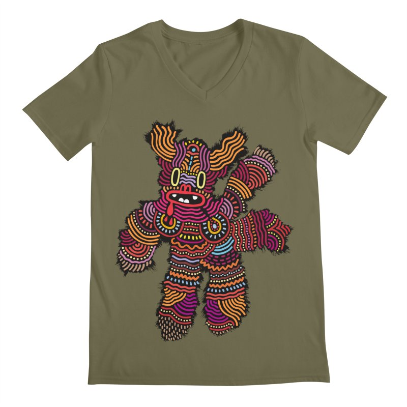 Monster of the day (June 26) [Year 1] Men's Regular V-Neck by Daily Monster Shop by Royal Glamsters