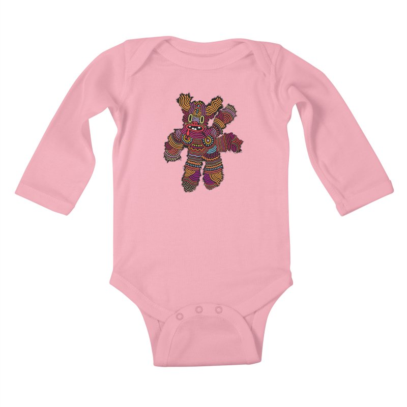 Monster of the day (June 26) [Year 1] Kids Baby Longsleeve Bodysuit by Daily Monster Shop by Royal Glamsters