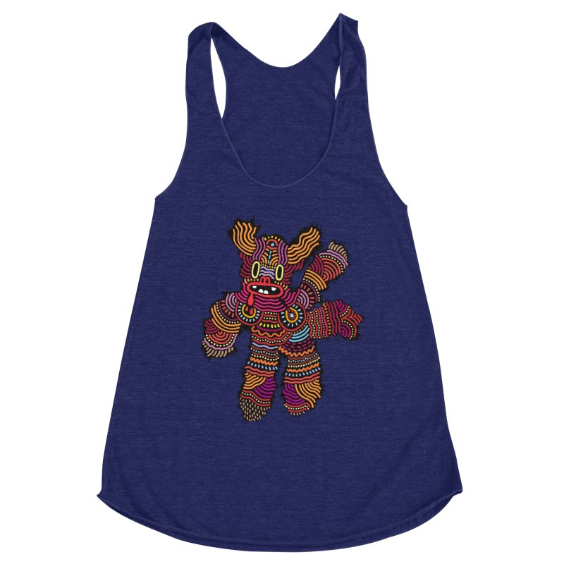 Monster of the day (June 26) [Year 1] Women's Racerback Triblend Tank by Daily Monster Shop by Royal Glamsters