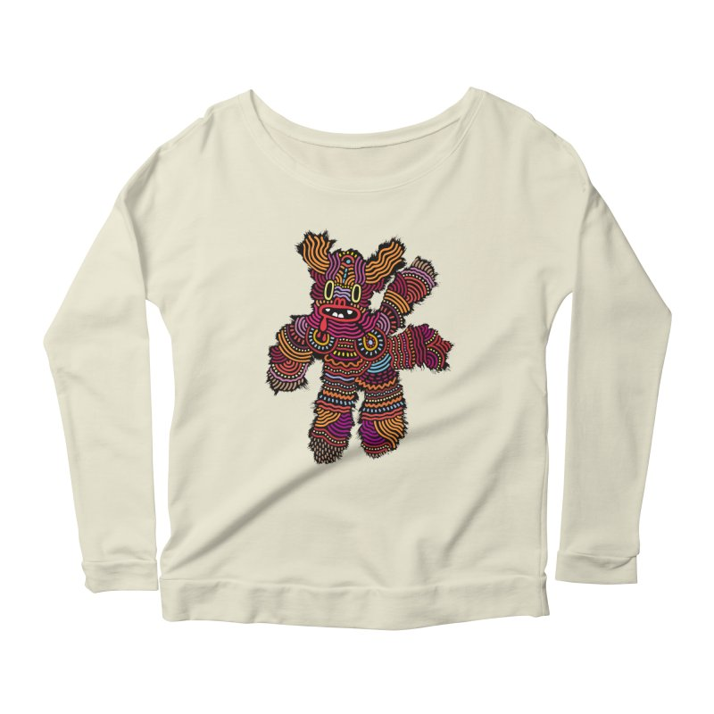 Monster of the day (June 26) [Year 1] Women's Scoop Neck Longsleeve T-Shirt by Daily Monster Shop by Royal Glamsters