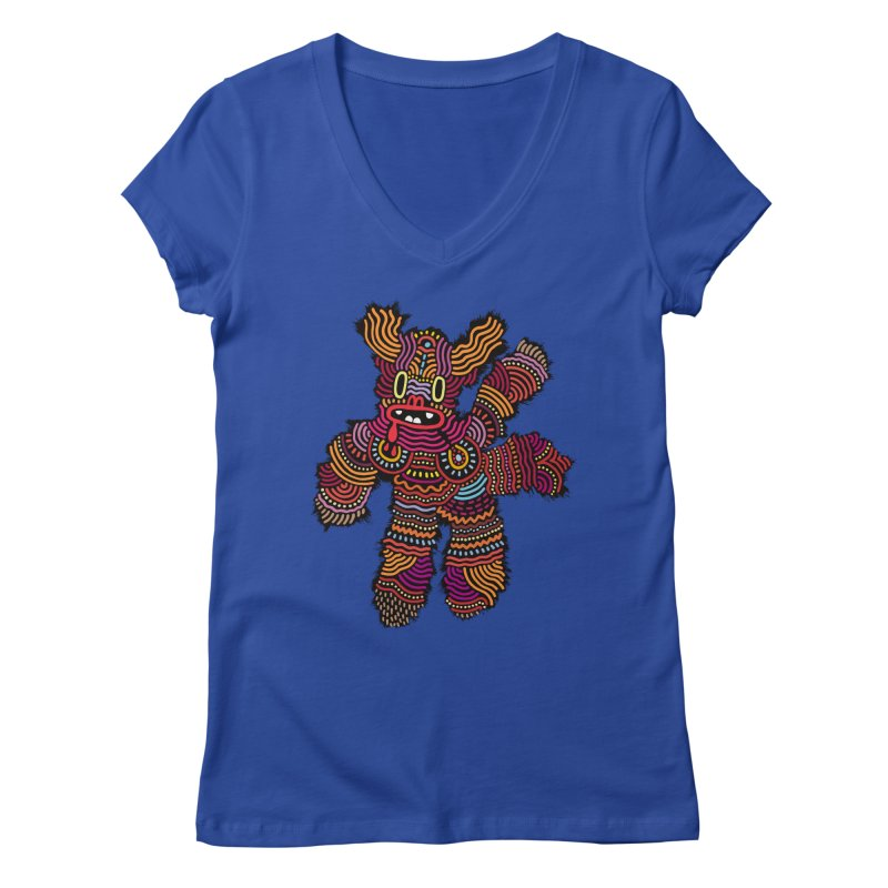 Monster of the day (June 26) [Year 1] Women's V-Neck by Daily Monster Shop by Royal Glamsters