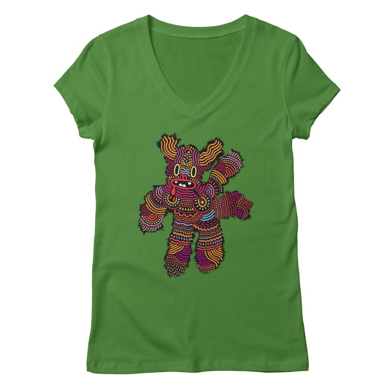 Monster of the day (June 26) [Year 1] Women's Regular V-Neck by Daily Monster Shop by Royal Glamsters