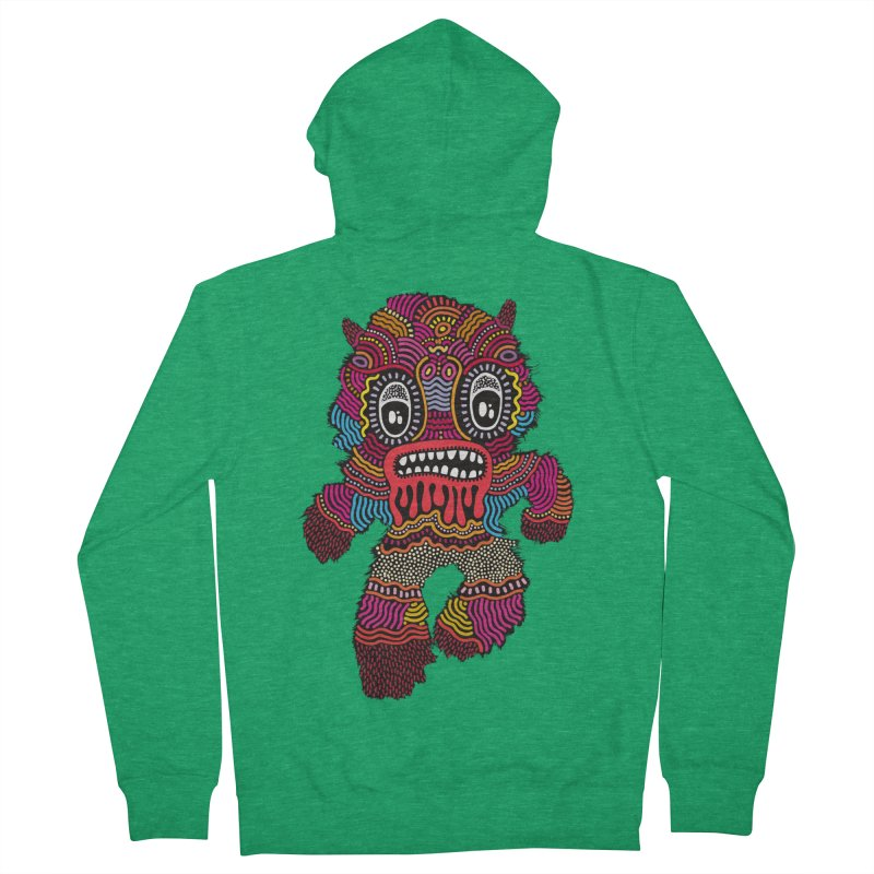 Monster of the day (June 20) [Year 1] Men's French Terry Zip-Up Hoody by Daily Monster Shop by Royal Glamsters