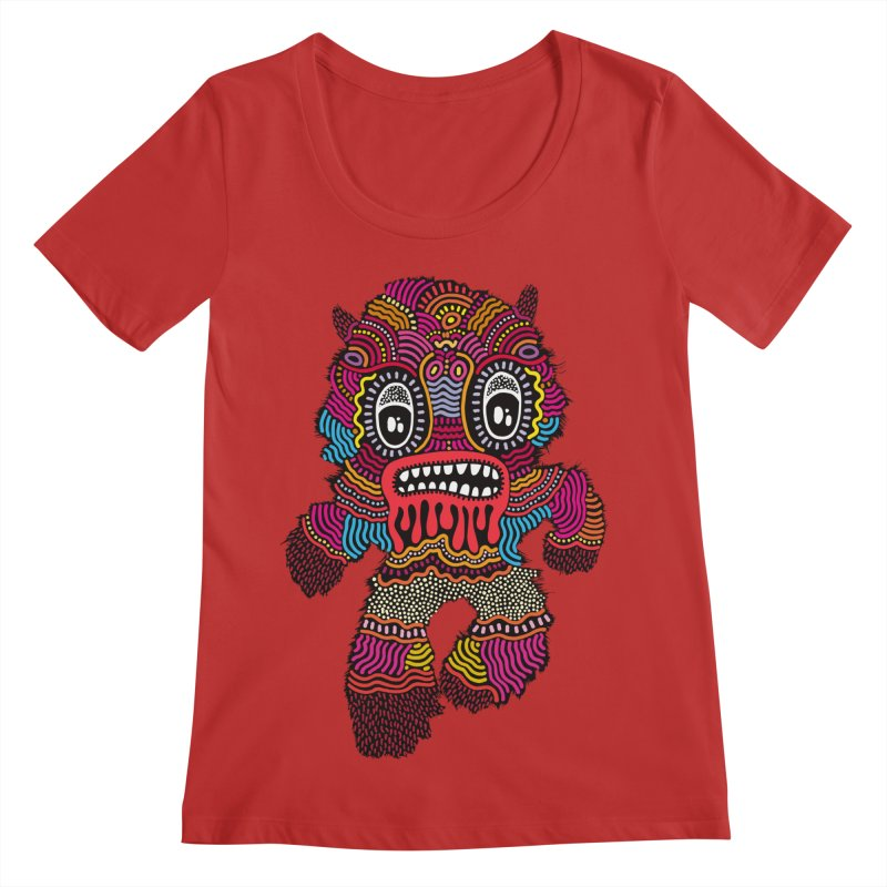 Monster of the day (June 20) [Year 1] Women's Regular Scoop Neck by Daily Monster Shop by Royal Glamsters