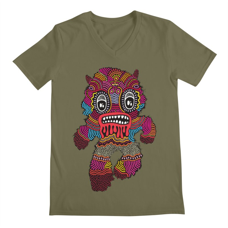 Monster of the day (June 20) [Year 1] Men's V-Neck by Daily Monster Shop by Royal Glamsters