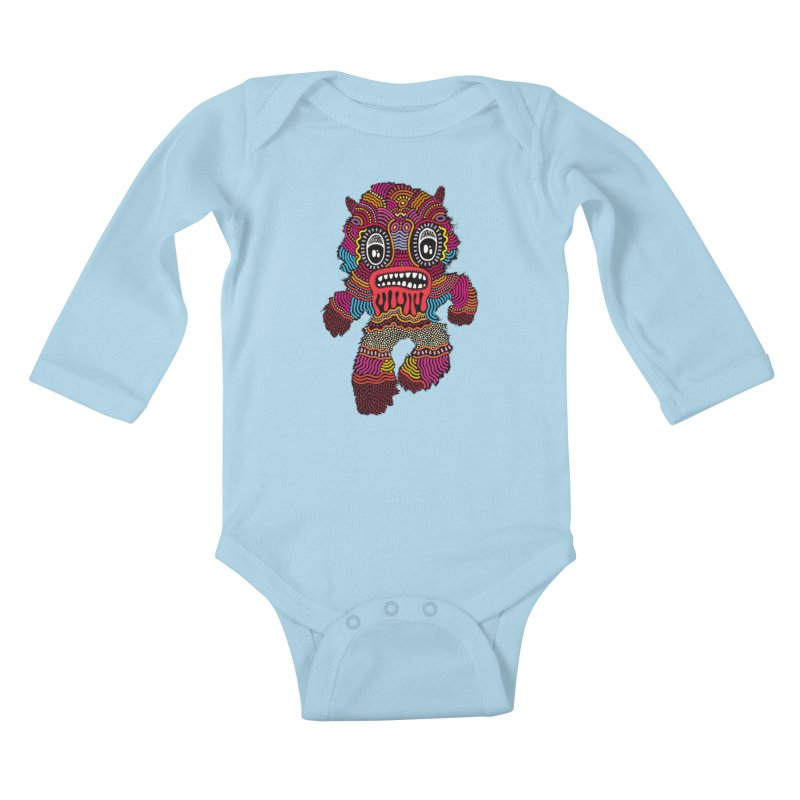 Monster of the day (June 20) [Year 1] Kids Baby Longsleeve Bodysuit by Daily Monster Shop by Royal Glamsters