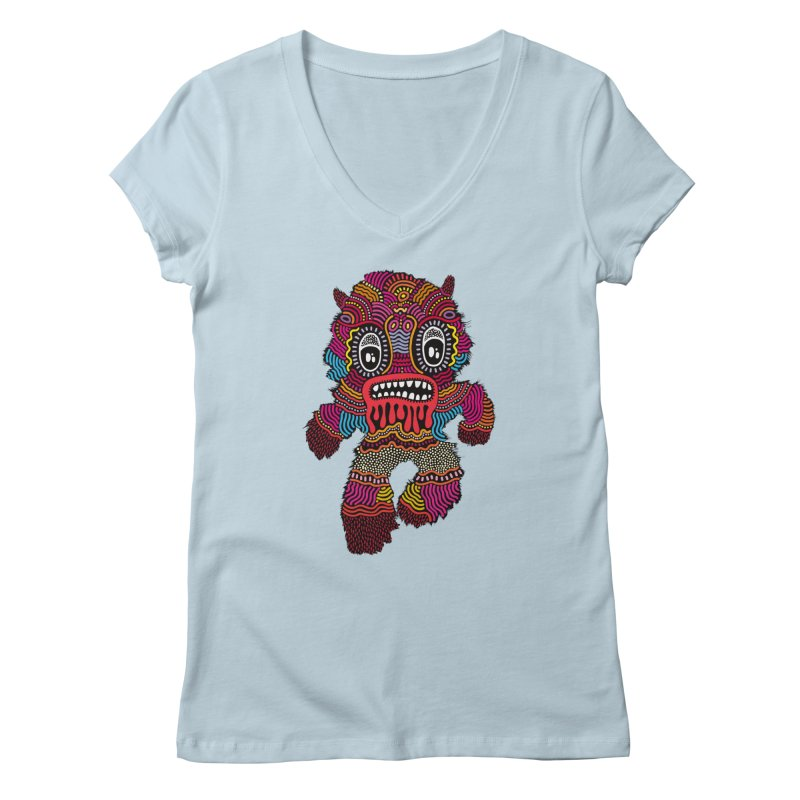 Monster of the day (June 20) [Year 1] Women's V-Neck by Daily Monster Shop by Royal Glamsters