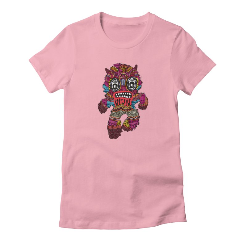 Monster of the day (June 20) [Year 1] in Women's Fitted T-Shirt Light Pink by Daily Monster Shop by Royal Glamsters