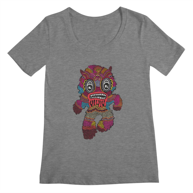 Monster of the day (June 20) [Year 1] Women's Scoopneck by Daily Monster Shop by Royal Glamsters