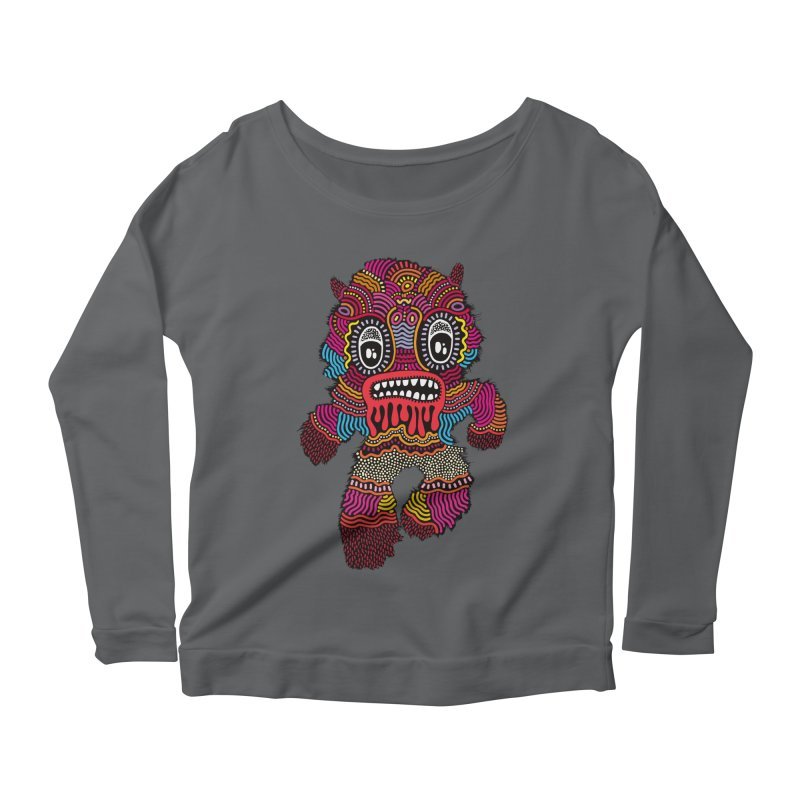 Monster of the day (June 20) [Year 1] Women's Scoop Neck Longsleeve T-Shirt by Daily Monster Shop by Royal Glamsters