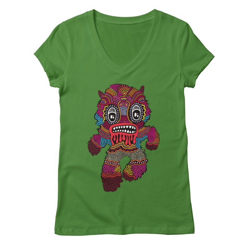 Monster of the day (June 20) [Year 1] Women's Regular V-Neck by Daily Monster Shop by Royal Glamsters