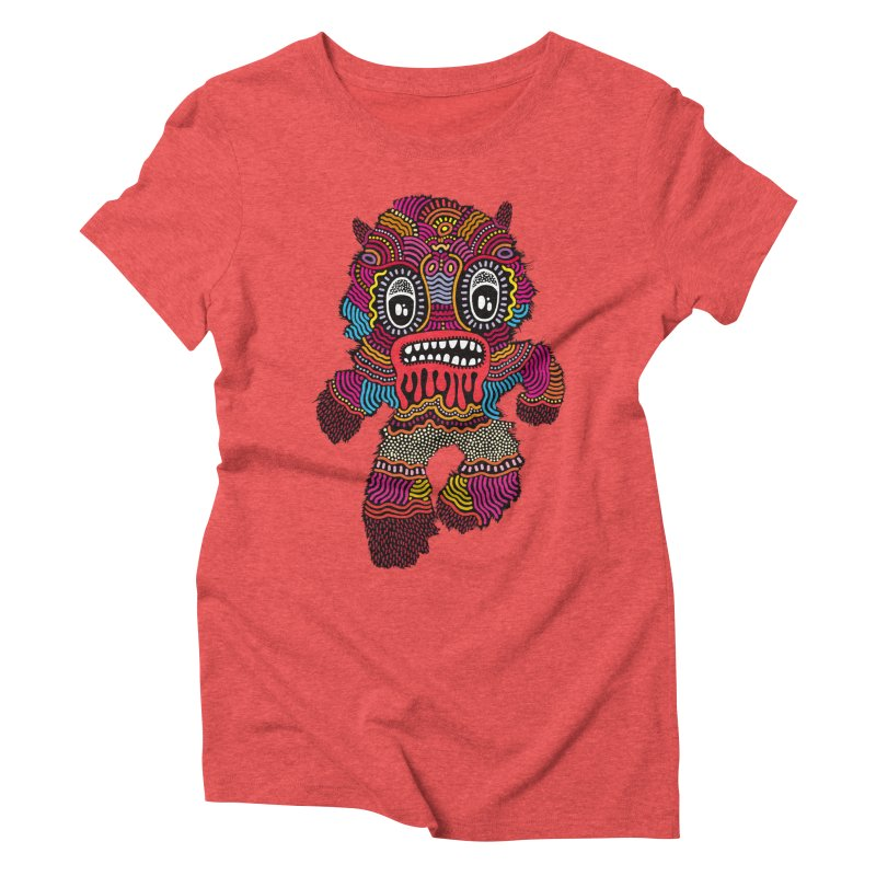 Monster of the day (June 20) [Year 1] Women's Triblend T-Shirt by Daily Monster Shop by Royal Glamsters