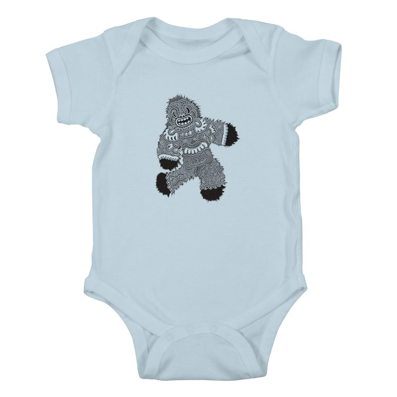 Monster of the day (November 13) [Year 1] Kids Baby Bodysuit by Daily Monster Shop by Royal Glamsters