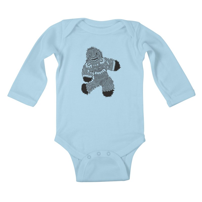 Monster of the day (November 13) [Year 1] Kids Baby Longsleeve Bodysuit by Daily Monster Shop by Royal Glamsters