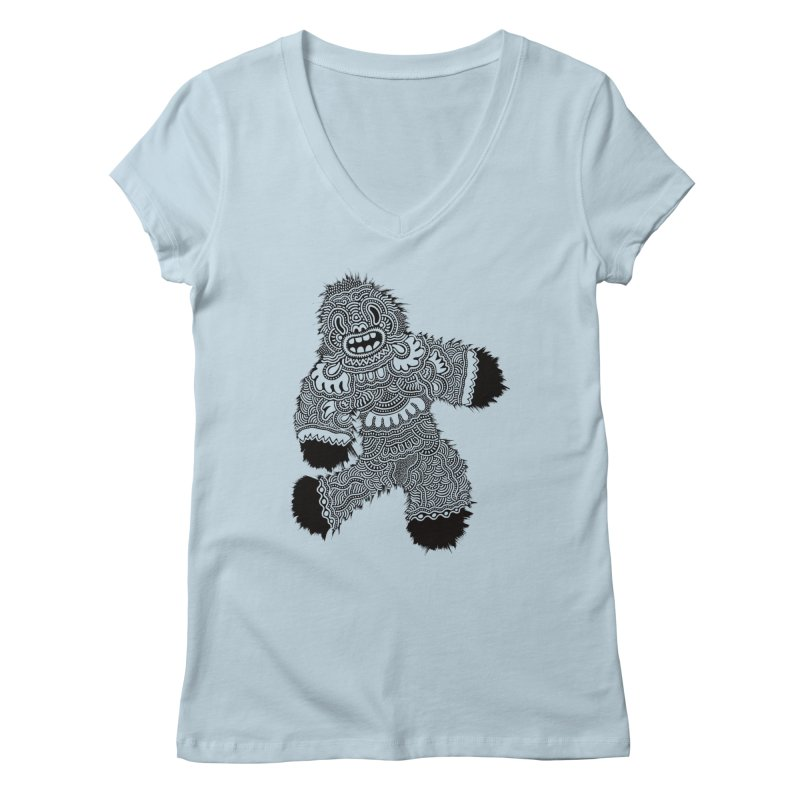Monster of the day (November 13) [Year 1] Women's V-Neck by Daily Monster Shop by Royal Glamsters