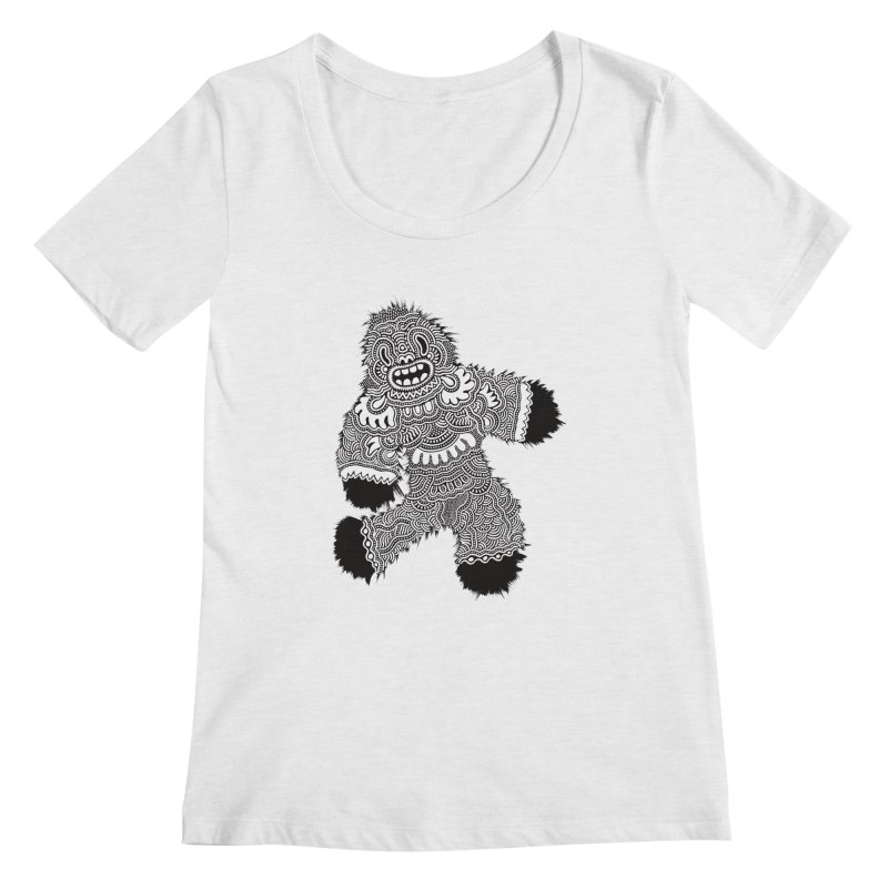 Monster of the day (November 13) [Year 1] Women's Scoopneck by Daily Monster Shop by Royal Glamsters