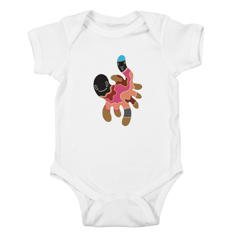 Monster of the day (October 15) [Year 1] Kids Baby Bodysuit by Daily Monster Shop by Royal Glamsters
