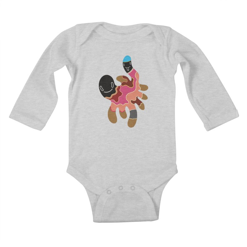 Monster of the day (October 15) [Year 1] Kids Baby Longsleeve Bodysuit by Daily Monster Shop by Royal Glamsters