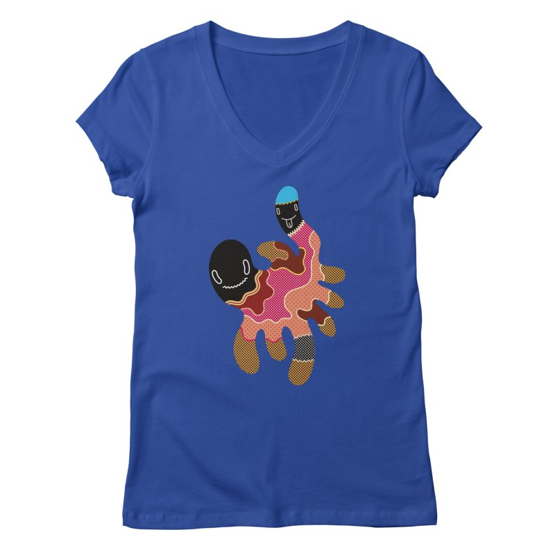 Monster of the day (October 15) [Year 1] Women's V-Neck by Daily Monster Shop by Royal Glamsters