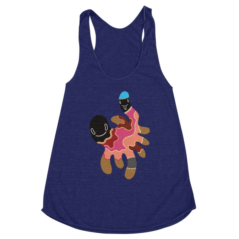 Monster of the day (October 15) [Year 1] Women's Racerback Triblend Tank by Daily Monster Shop by Royal Glamsters