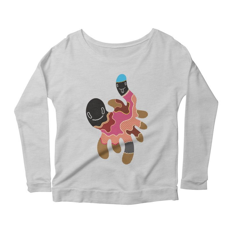 Monster of the day (October 15) [Year 1] Women's Scoop Neck Longsleeve T-Shirt by Daily Monster Shop by Royal Glamsters