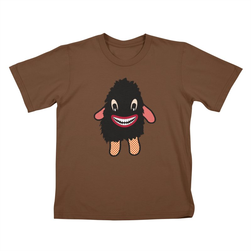 Monster of the day (February 16) [Year 1] in Kids T-Shirt Brown by Daily Monster Shop by Royal Glamsters