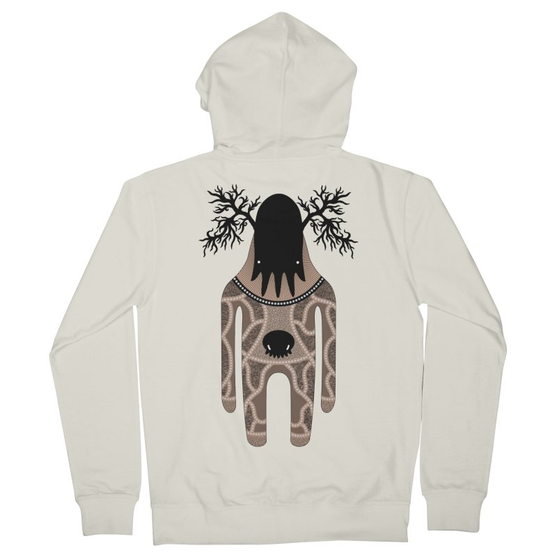 Monster of the day (April 24) [Year 1] Men's French Terry Zip-Up Hoody by Daily Monster Shop by Royal Glamsters