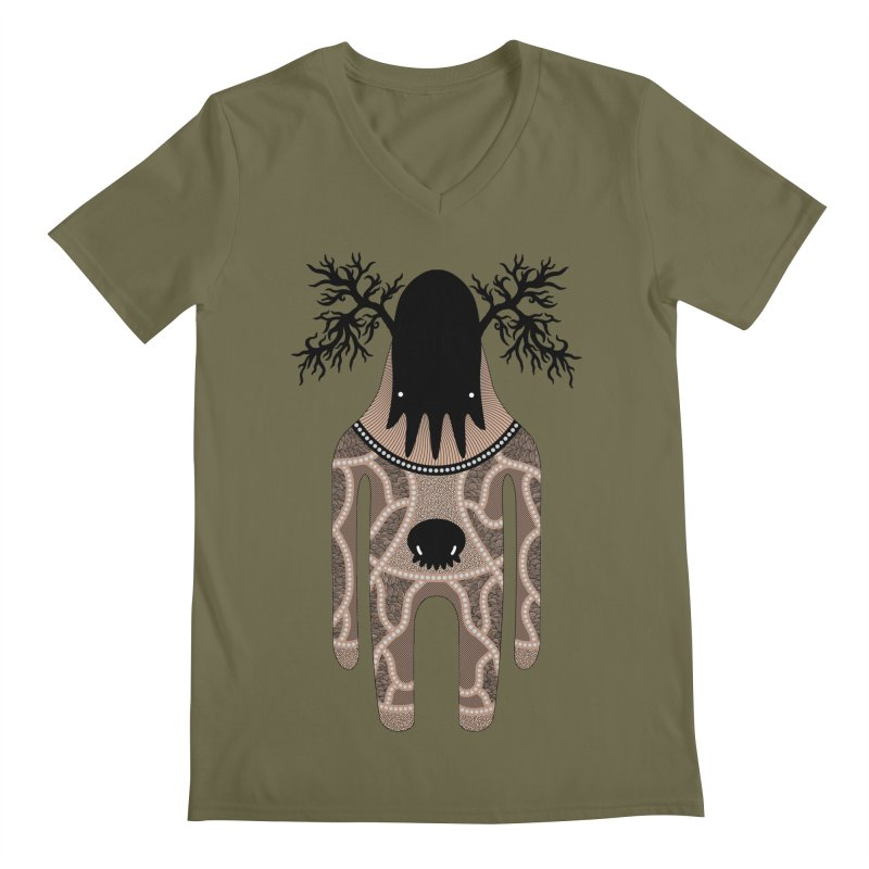 Monster of the day (April 24) [Year 1] Men's V-Neck by Daily Monster Shop by Royal Glamsters