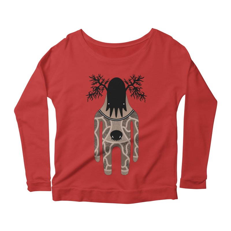 Monster of the day (April 24) [Year 1] Women's Scoop Neck Longsleeve T-Shirt by Daily Monster Shop by Royal Glamsters