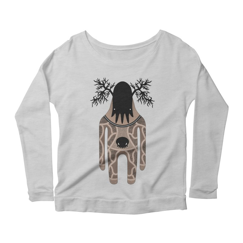 Monster of the day (April 24) [Year 1] Women's Longsleeve Scoopneck  by Daily Monster Shop by Royal Glamsters