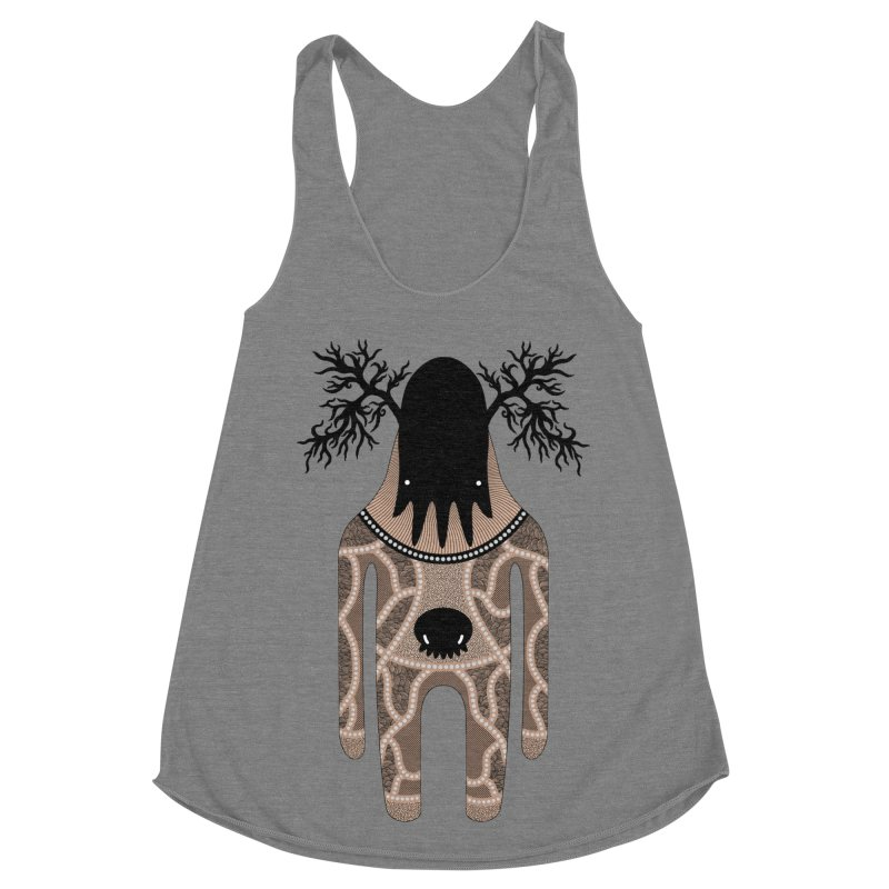 Monster of the day (April 24) [Year 1] Women's Racerback Triblend Tank by Daily Monster Shop by Royal Glamsters