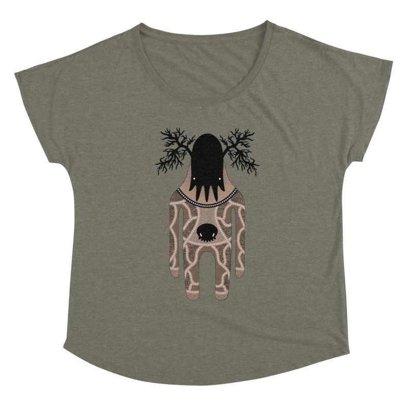 Monster of the day (April 24) [Year 1] Women's Scoop Neck by Daily Monster Shop by Royal Glamsters