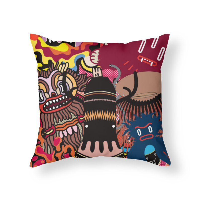 """Monsters Show"" [1] (Throw Pillow) Home Throw Pillow by Daily Monster Shop by Royal Glamsters"