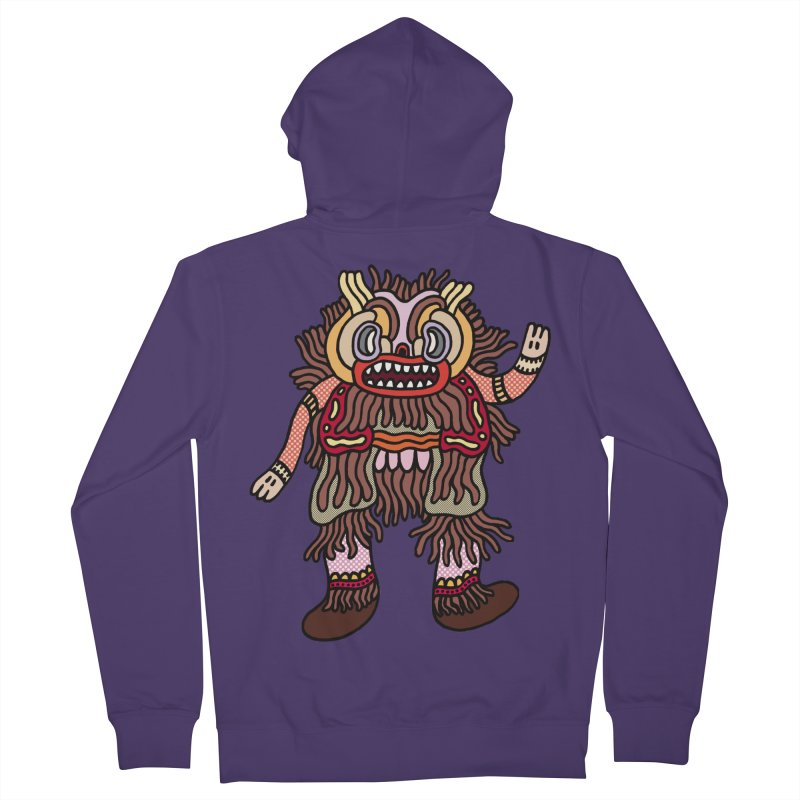 Olmeca Monster of the day (June 6) [Year 1] Women's French Terry Zip-Up Hoody by Daily Monster Shop by Royal Glamsters