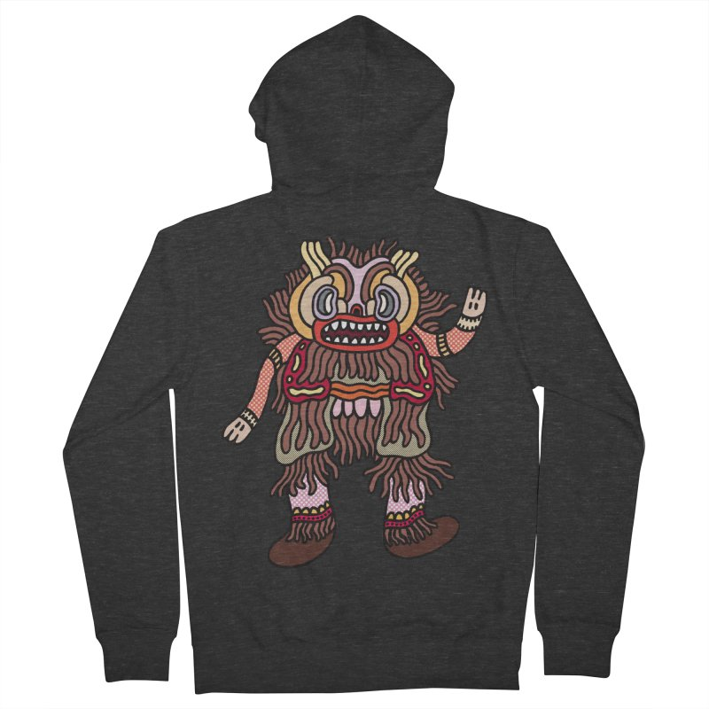 Olmeca Monster of the day (June 6) [Year 1] Men's French Terry Zip-Up Hoody by Daily Monster Shop by Royal Glamsters