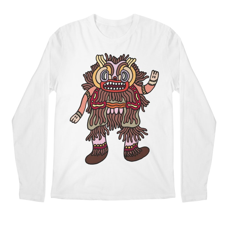 Olmeca Monster of the day (June 6) [Year 1] Men's Regular Longsleeve T-Shirt by Daily Monster Shop by Royal Glamsters