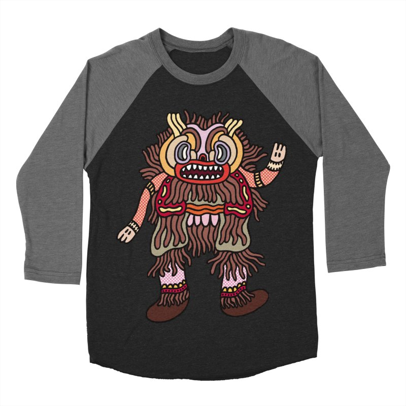Olmeca Monster of the day (June 6) [Year 1] Women's Baseball Triblend Longsleeve T-Shirt by Daily Monster Shop by Royal Glamsters