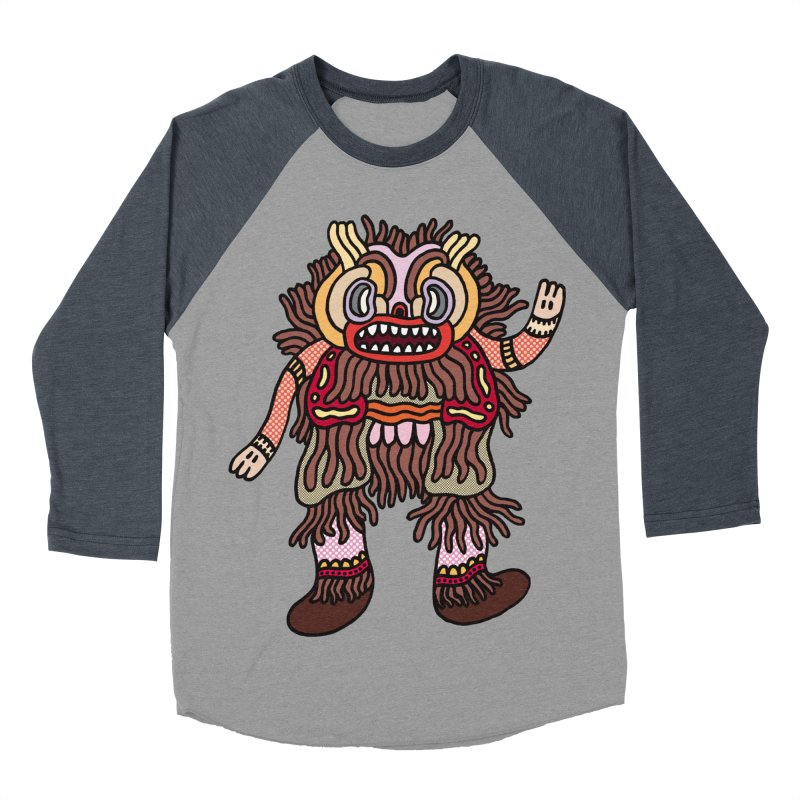 Olmeca Monster of the day (June 6) [Year 1] Men's Baseball Triblend Longsleeve T-Shirt by Daily Monster Shop by Royal Glamsters