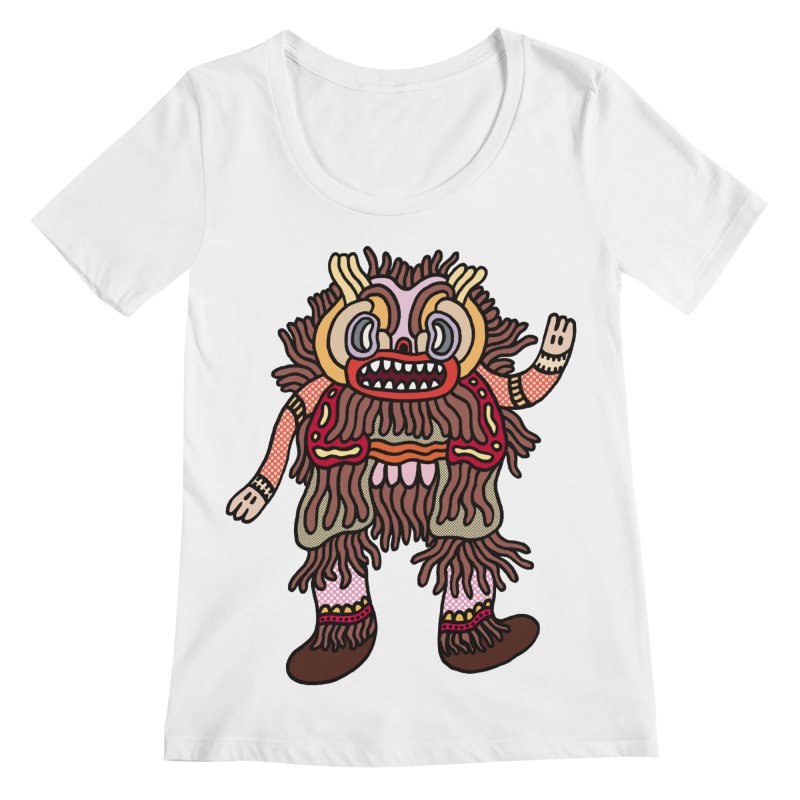 Olmeca Monster of the day (June 6) [Year 1] Women's Regular Scoop Neck by Daily Monster Shop by Royal Glamsters