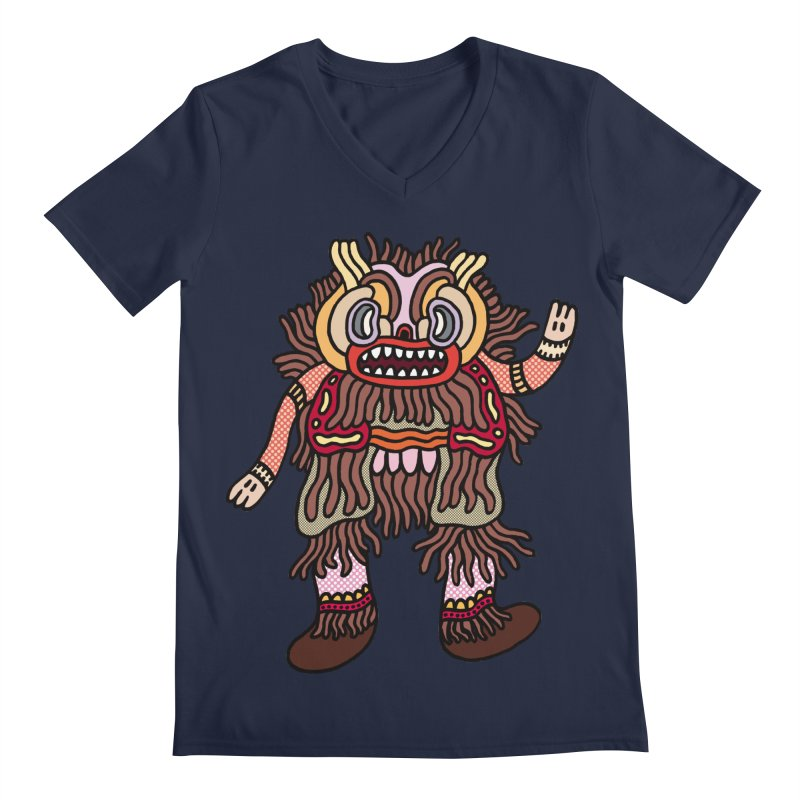 Olmeca Monster of the day (June 6) [Year 1] Men's Regular V-Neck by Daily Monster Shop by Royal Glamsters
